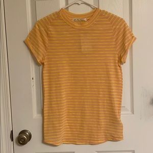 NEW Free People Summer Rose Combo T-shirt Yellow